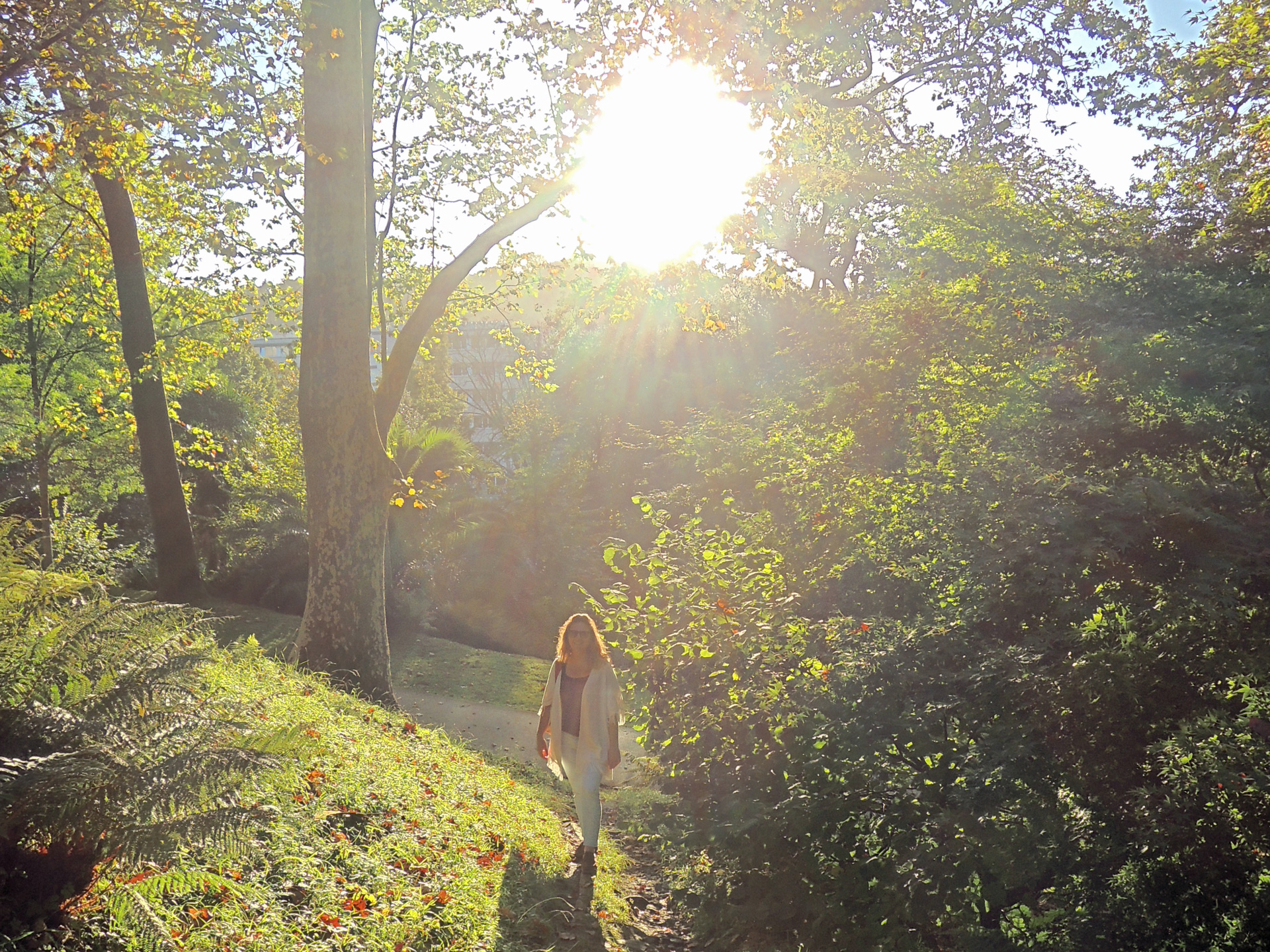 wandelen in Parque Christina Enea