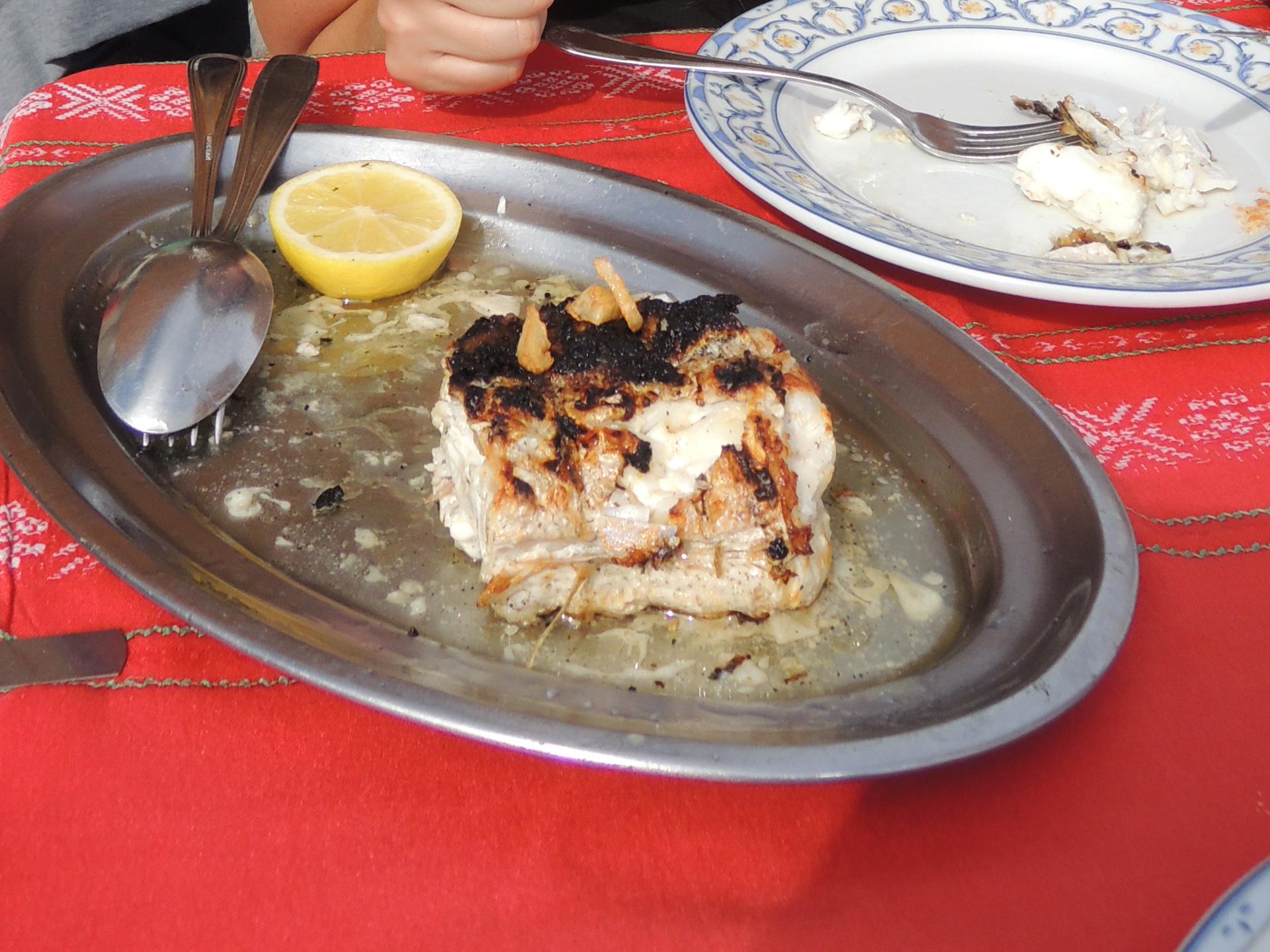 Vis eten in Getaria