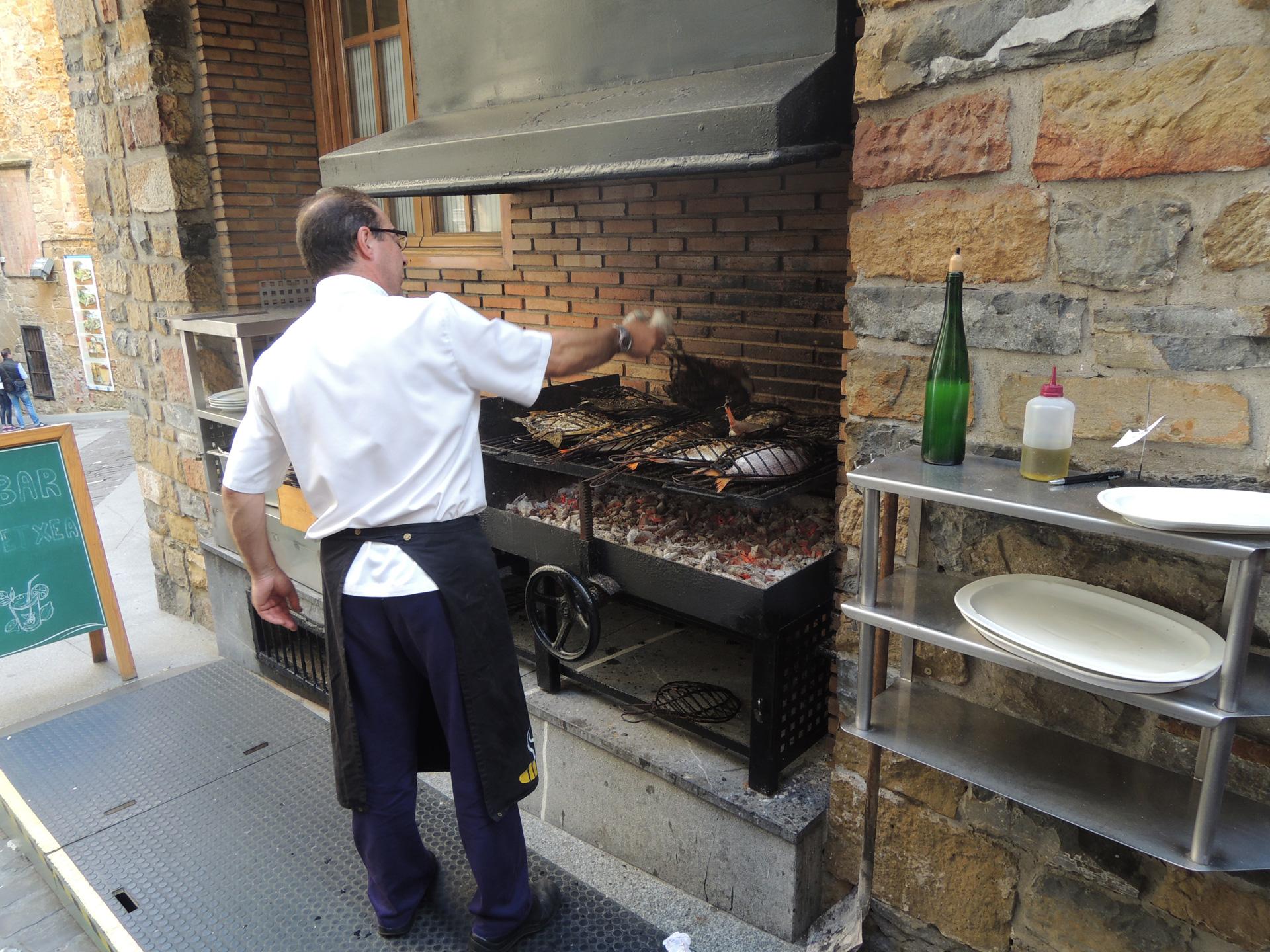 Verse vis van de grill, Getaria