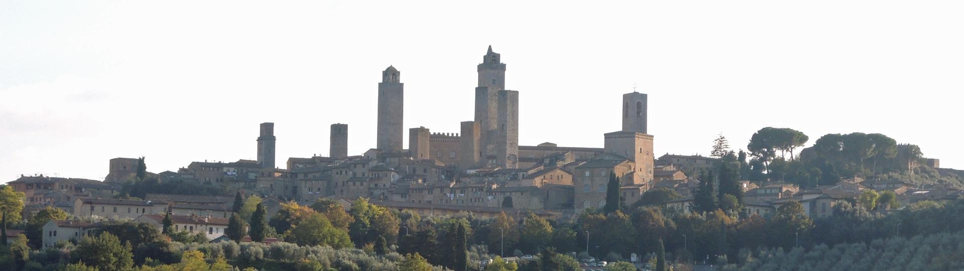 Uitzicht op San Gimignano