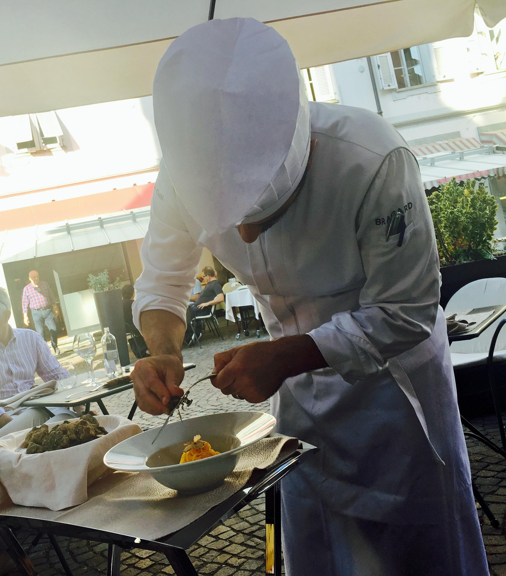 Witte truffel eten in Alba