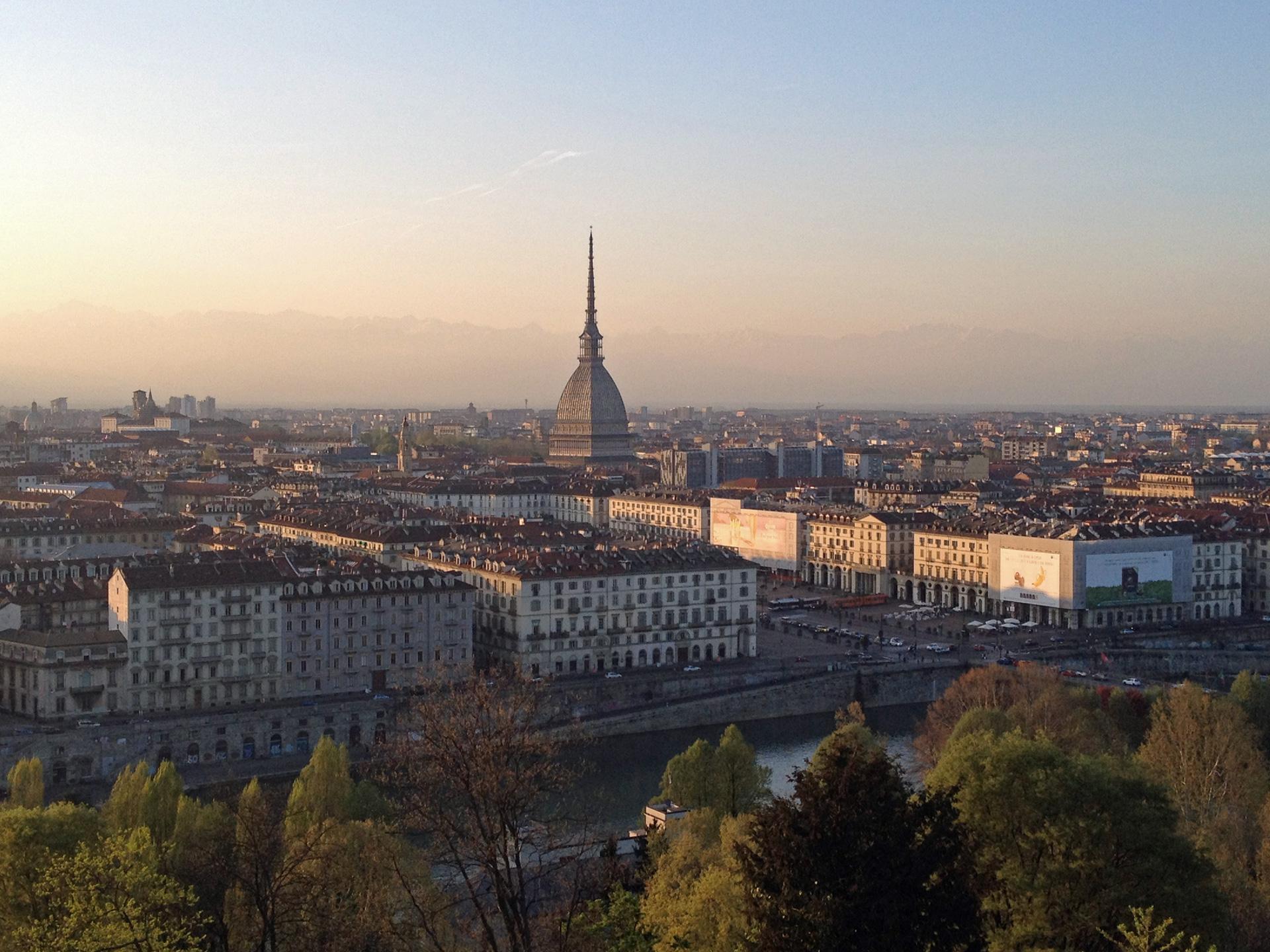 Uitzicht over Turijn vanaf Monte dei Cappuccini