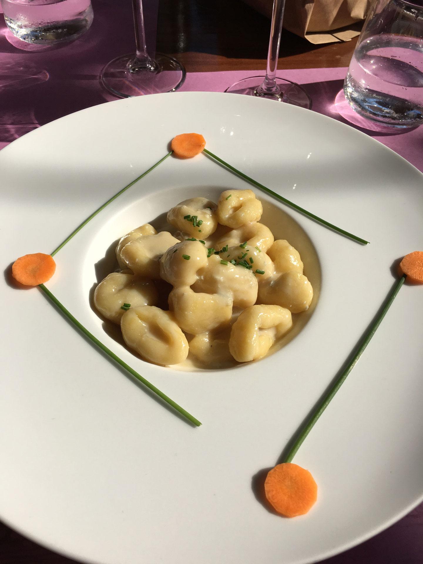 Lekker Gnocchi eten in Soave